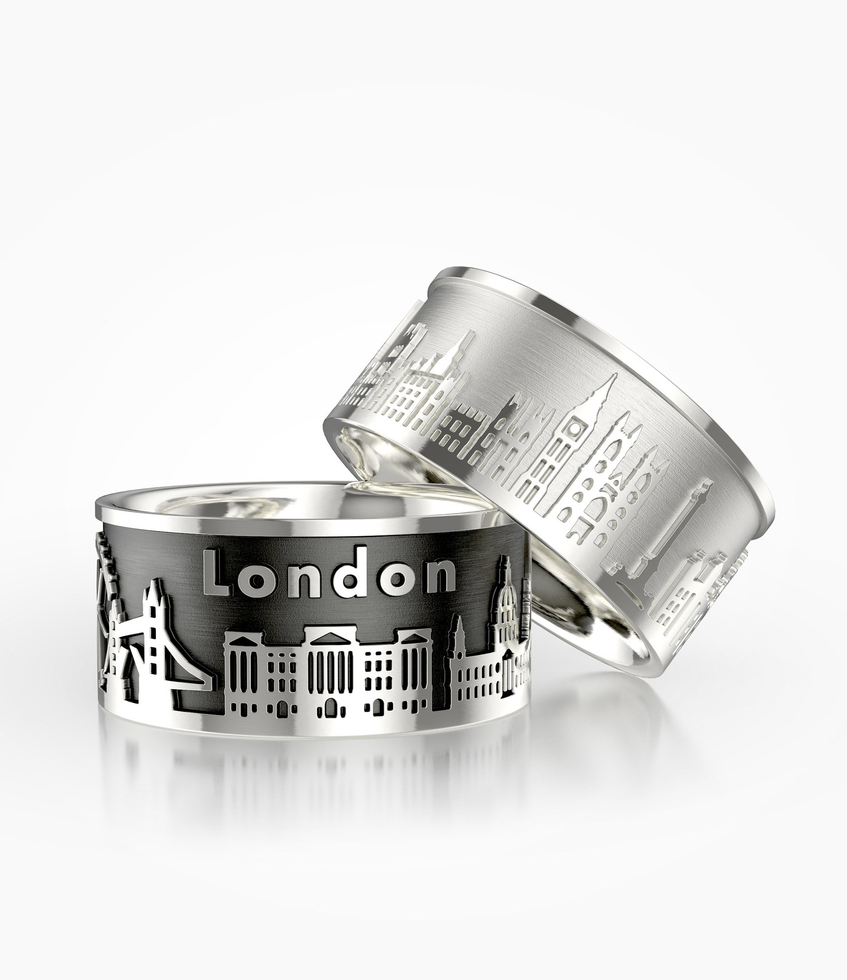 London's sights in 925 silver