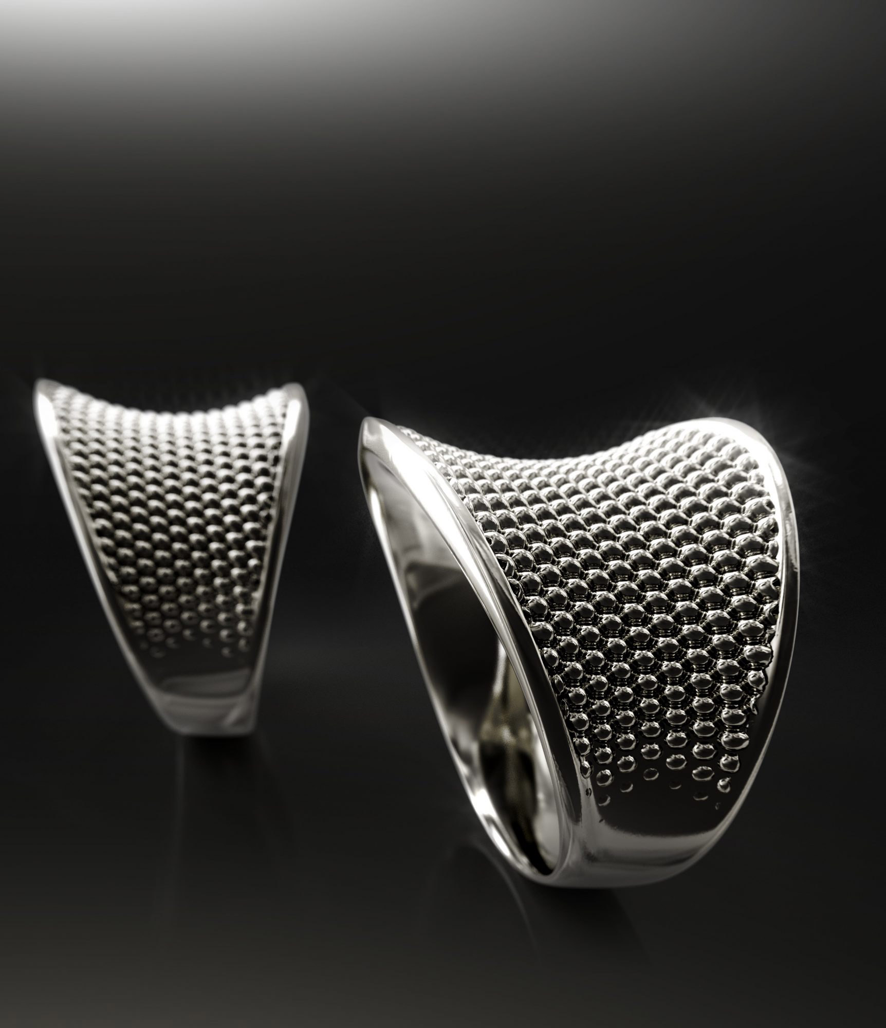 concave ring with dot structure